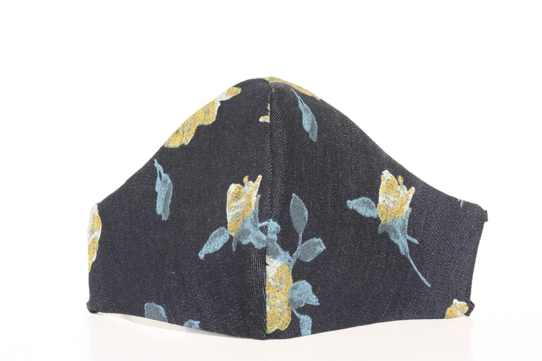 Denim Floral Mask