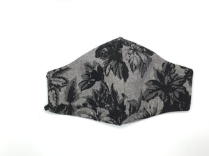 Black and Gray Floral