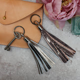 Swinbrook Tassel Keyring - Navy Leather