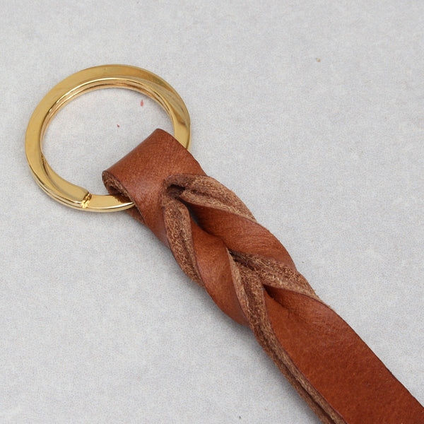 Twist Keyring - Small - Tan