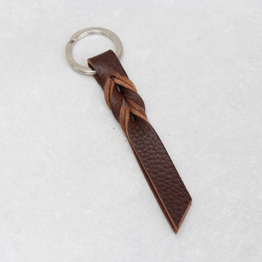 Twist Keyring - Brown Tumblegrain