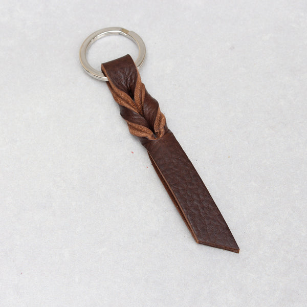 Twist Keyring - Small - Mocha Tumblegrain