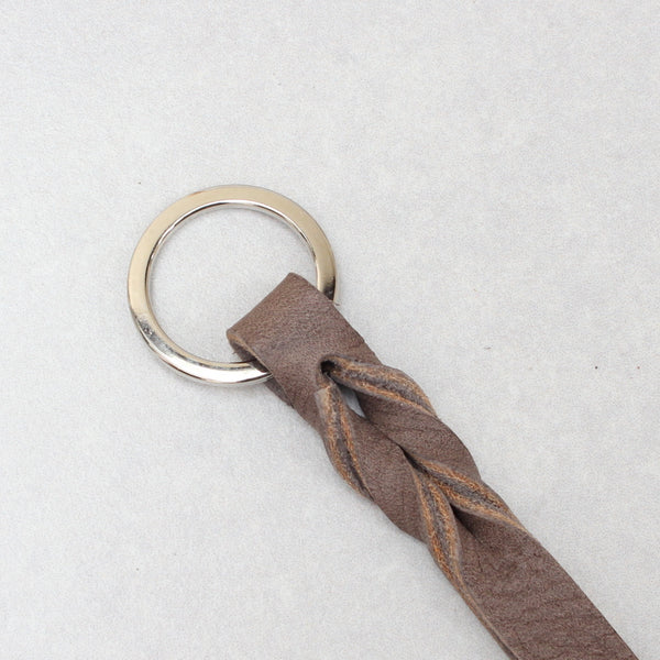 Twist Keyring - Small - Taupe Tumblegrain