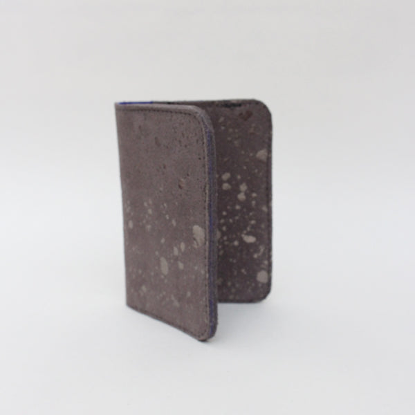 Card Wallet, Grey Metallic Fleck/Cobalt
