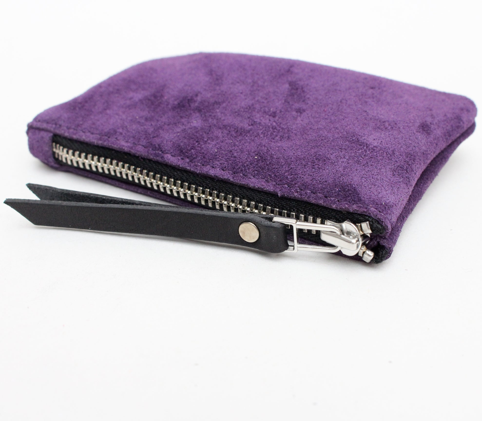 Foxcombe Coin Purse - Purple Suede
