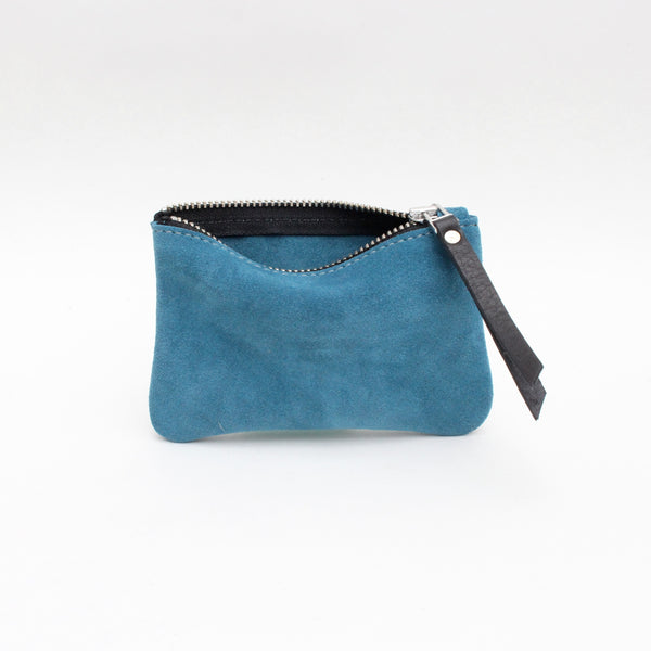 Foxcombe Coin Purse - Teal Suede