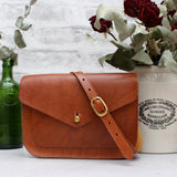 Fawley satchel, small, tan, Miller & Jeeves