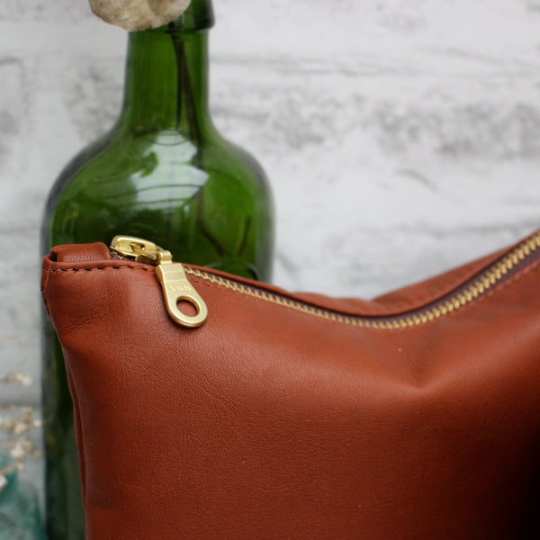 SALE - Asthall, dark tan leather