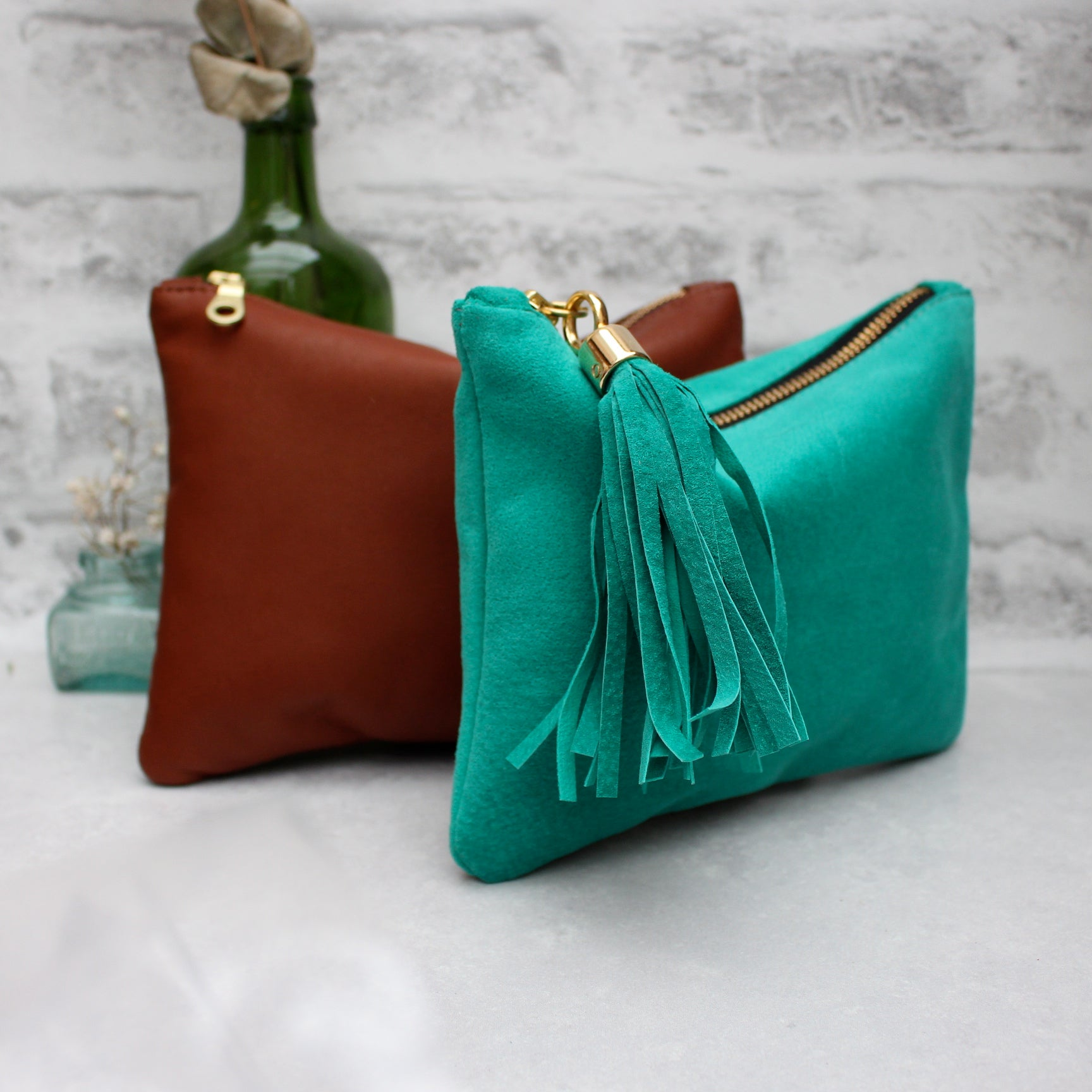 Betsy Mini - green suede