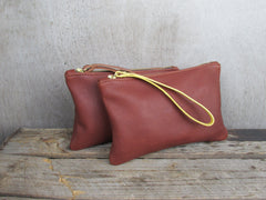Moreton Leather Pouch -Tan