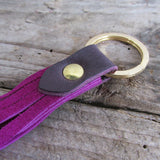 Two-Tone Tassel Keyring - Royal Pink/ Purple