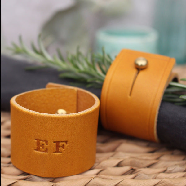 Personalised Leather Napkin Ring