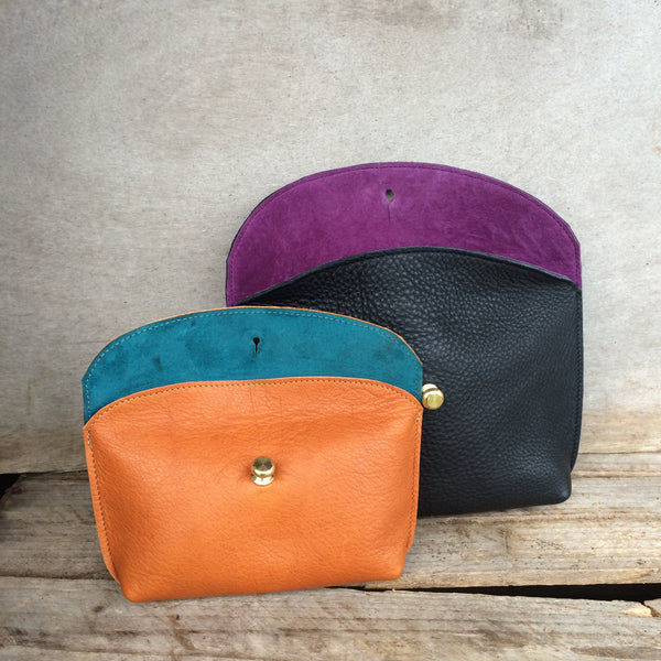 Hebden Pouch - Black leather