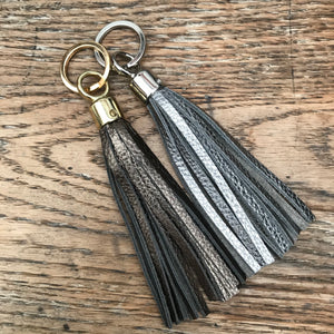 Swinbrook Tassel Keyring - Anthracite Leather