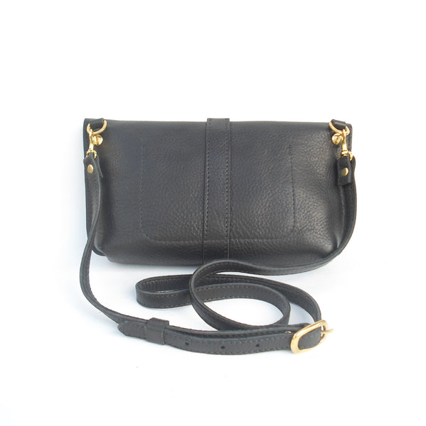 Dorothy Shoulder Bag - Black Leather