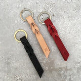 Twist Keyring - Small - Black Tumblegrain