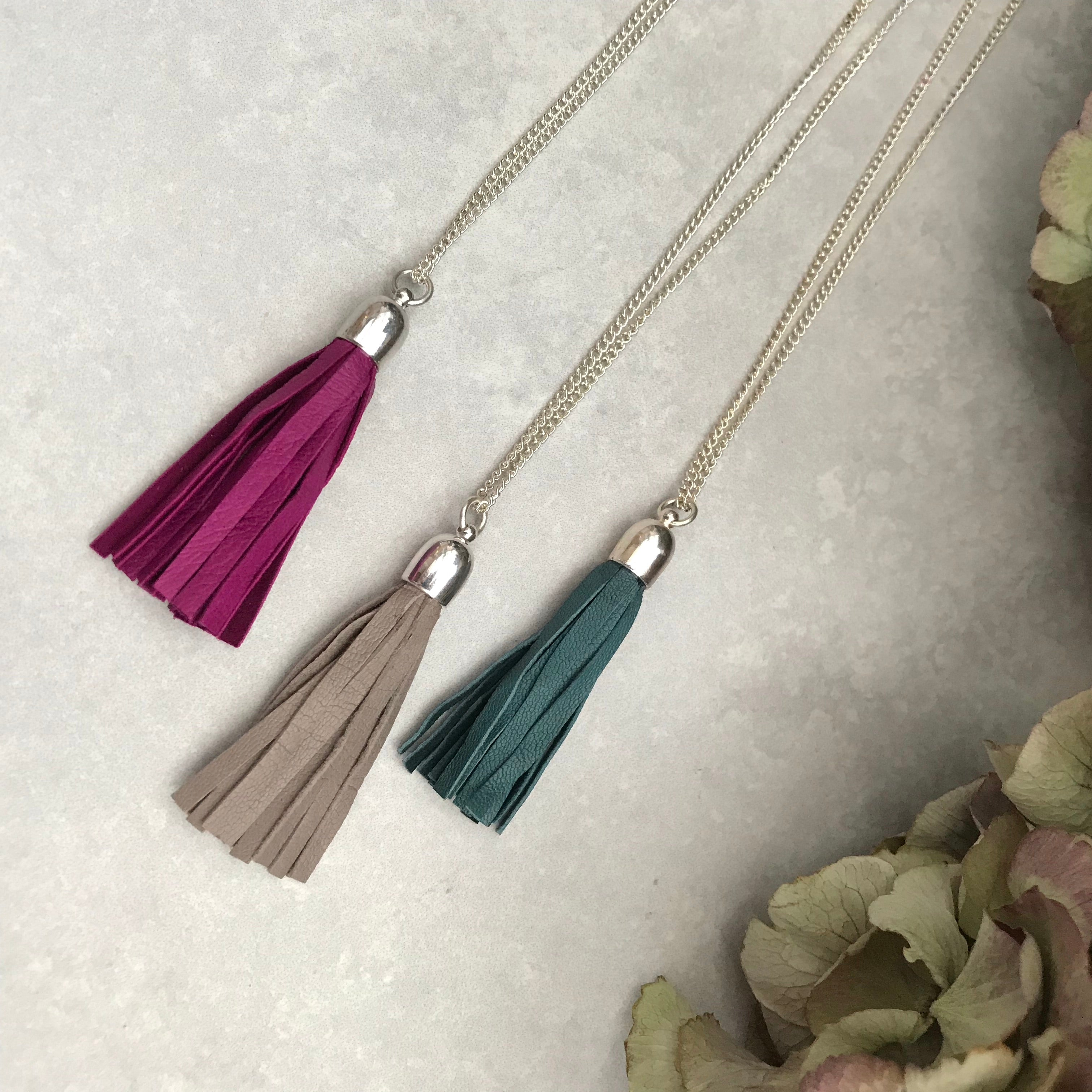 Tassel Necklace - green