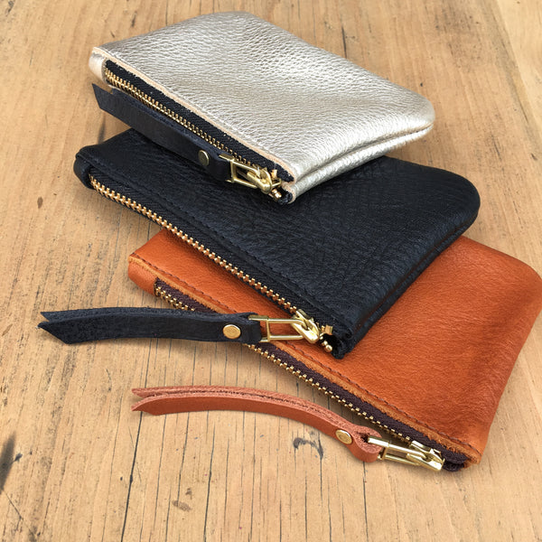 Foxcombe Coin Purse - Platinum Leather