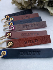 Personalised keyring - long