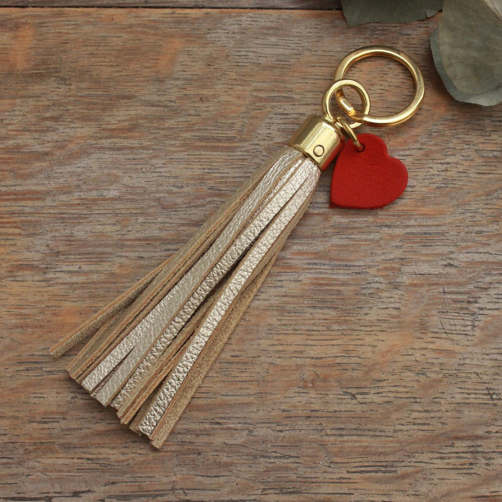 Personalised Swinbrook Tassel Keyring - Leather