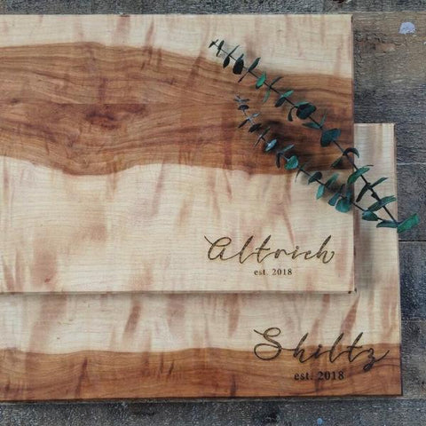 Customized carved board - OliveandNectar