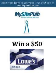 Enter to Win a $50 Gift Card to Lowe's