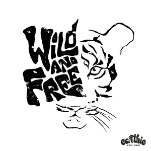 Wild And Free – Unisex Classic Tee – Stone Wash Denim - Earthie