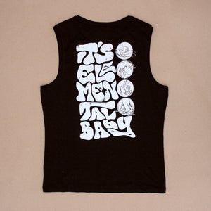 Elemental – Mens Cut-Off Tee – Black – Print On Back - Earthie