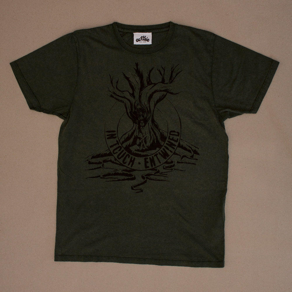 Entwined – Unisex Classic Tee – Stone Wash Green - Earthie