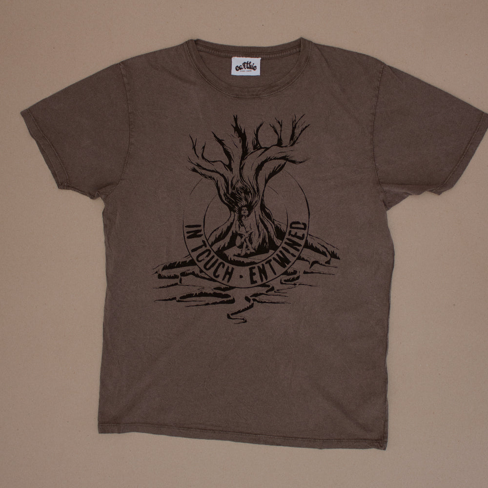 Entwined – Unisex Classic Tee – Stone Wash Grey - Earthie