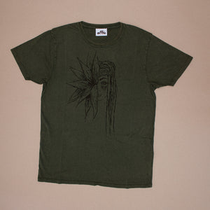 Flower Girl – Unisex Classic Tee – Stone Wash Green - Earthie