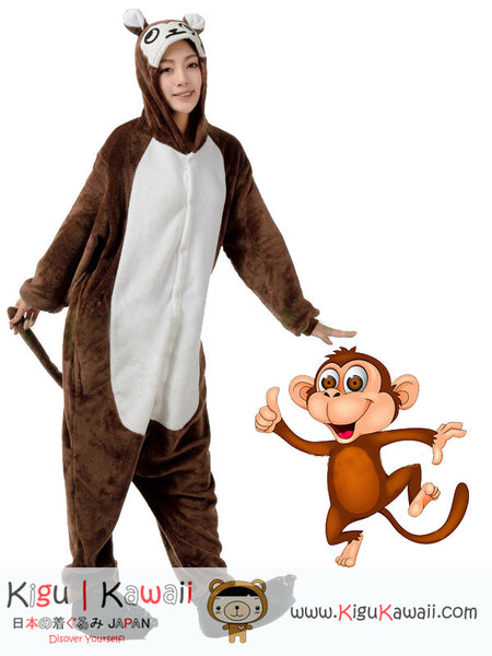 New Super Active Brown Monkey Adult Animal Kigurumi Onesie KK287