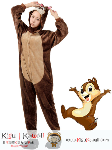 New Talented Chip the Chipmunk - Chip and Dale Adult Kigurumi Onesie KK285
