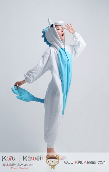 Blue Unicorn Animal Adult Kigurumi Onesie