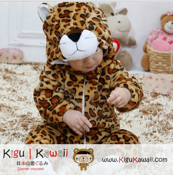 New Leopard Baby Toddler Fleece Animal Onesie Newborn Kigurumi
