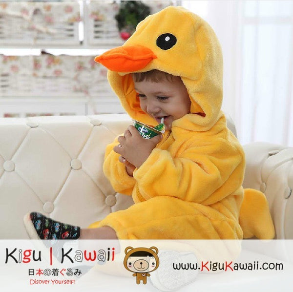 New Yellow Duck Baby Toddler Fleece Animal Onesie Newborn Kigurumi