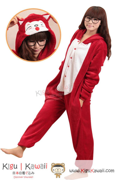 New Red Fox Ali Adult Animal Winter Kigurumi Fleece Onesie KK851