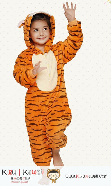 Orange Tiger Animal Kids Kigurumi Onesie