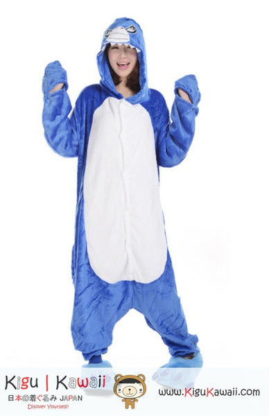 Shark Blue Adult Animal Kigurumi Onesie