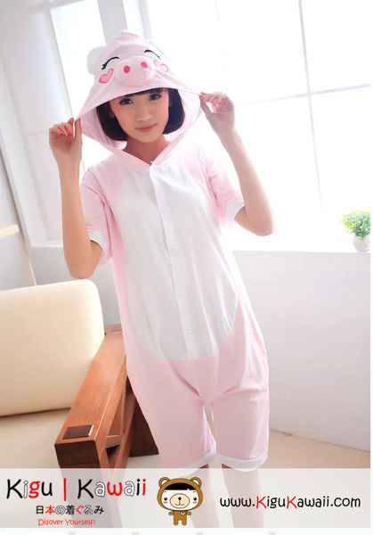 New Pink Pig Adult Unisex Spring and Summer Kigurumi Onesie KK230