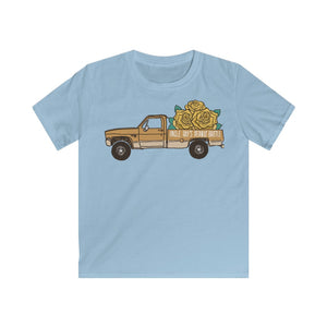 Let's Get Truckin' with Goldie! - Kids Softstyle Tee
