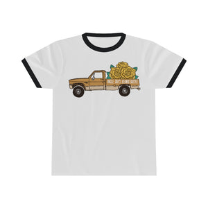 Truckin' with Goldie - Unisex Ringer Tee