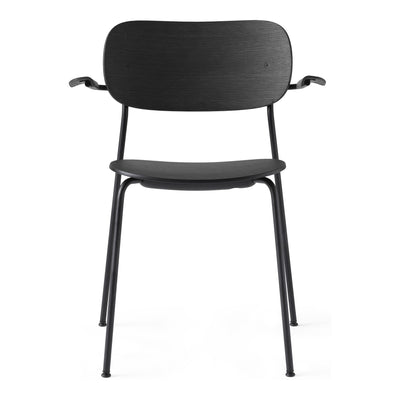 Menu Židle Co Chair s područkami, Black / Black Oak - DESIGNSPOT