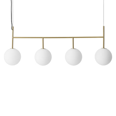 Menu Závěsná lampa TR Bulb, Suspension Frame, Brushed Brass, Matt Opal - DESIGNSPOT