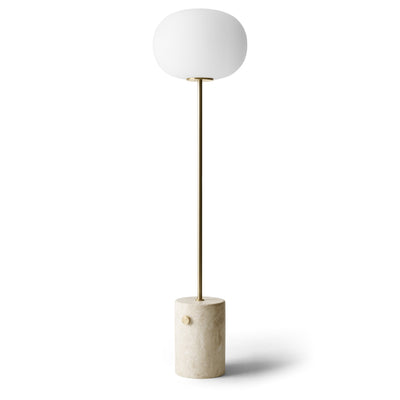 Menu Stojací lampa JWDA Floor Lamp, Travertine, Brushed Brass - DESIGNSPOT