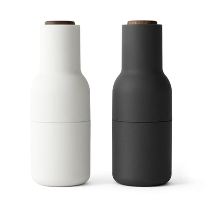 Menu Mlýnky na sůl a pepř Bottle, Ash / Carbon, Walnut Lid, set 2ks - DESIGNSPOT