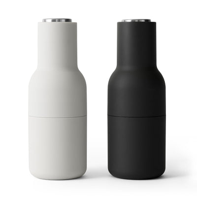 Menu Mlýnky na sůl a pepř Bottle, Ash/Carbon, Steel Lid, set 2ks - DESIGNSPOT
