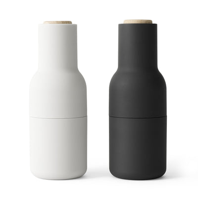 Menu Mlýnky na sůl a pepř Bottle, Ash / Carbon, set 2ks - DESIGNSPOT