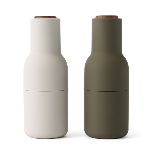 Menu Mlýnky na sůl a pepř Bottle, Hunting Green/Beige, Walnut, 2ks - DESIGNSPOT