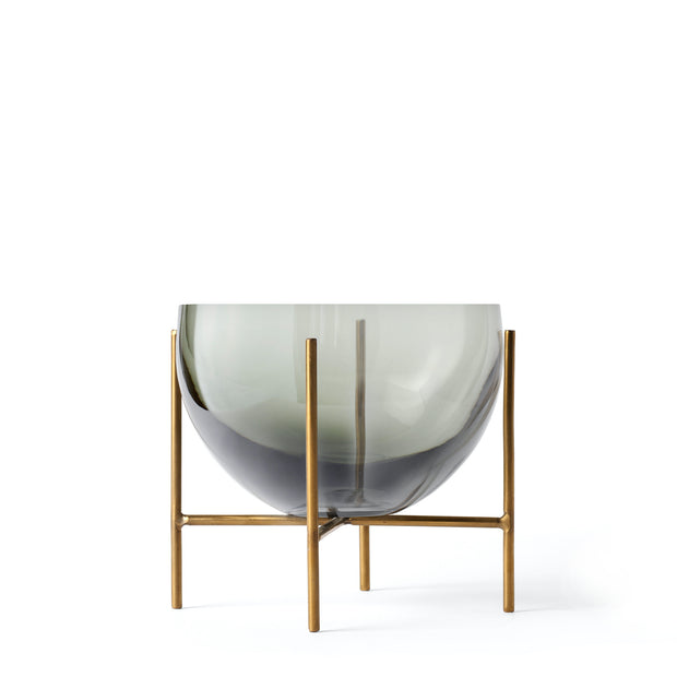 Menu Miska Echasse S, Smoke/Brushed Brass - DESIGNSPOT